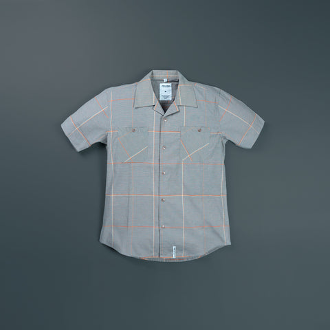 YARN DYED WOVEN SHIRT SHORT SLEEVE 3026
