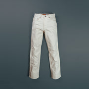 CLASSIC 5 POCKET CREAM DYED COTTON TWILL ROLL UP PANTS 868-6N
