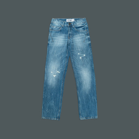 SLIM STRAIGHT 5 POCKET DENIM PANTS P036-2