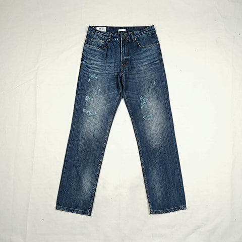 SLIM STRAIGHT DENIM PANTS P062