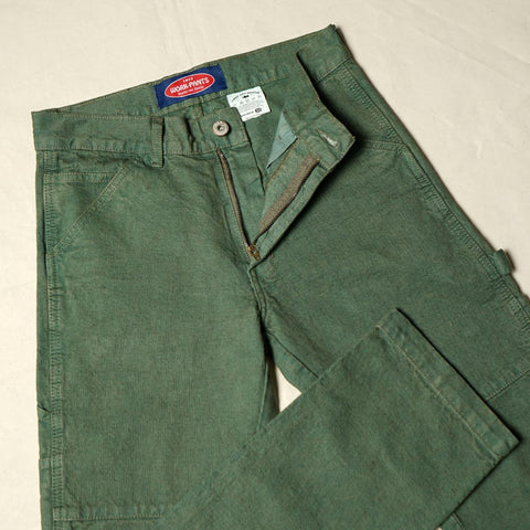 DOBBY CARPENTER PANTS ARMY DYED P064-2
