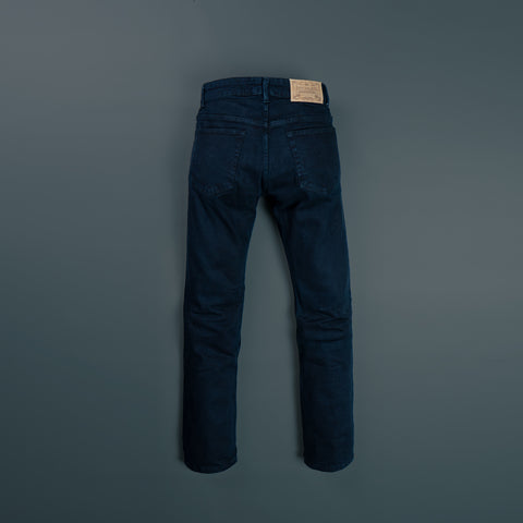 5 POCKET RETRO BLACK DYED STRETCH DENIM PANTS P605-1