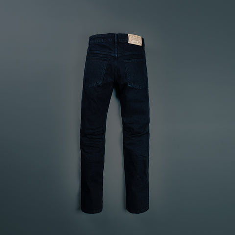 5 POCKET RETRO BLACK DYED STRETCH DENIM PANTS P603-2