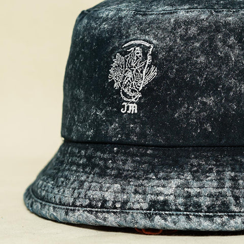 NAVY WASHED BUCKET HAT TP022