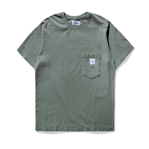 WORKSHOP T - HEAVY BOX GREEN TEE - TJM101