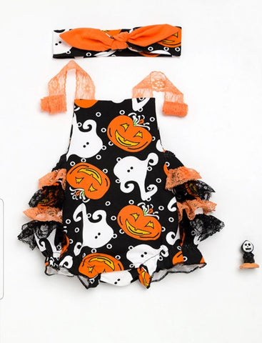 Halloween Romper with Bow