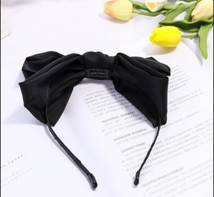 Floppy bow headband