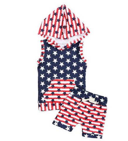 4th of July  Boys short set