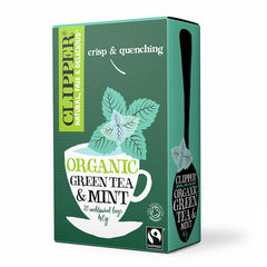 Organic Fairtrade Green with Mint 20 bags