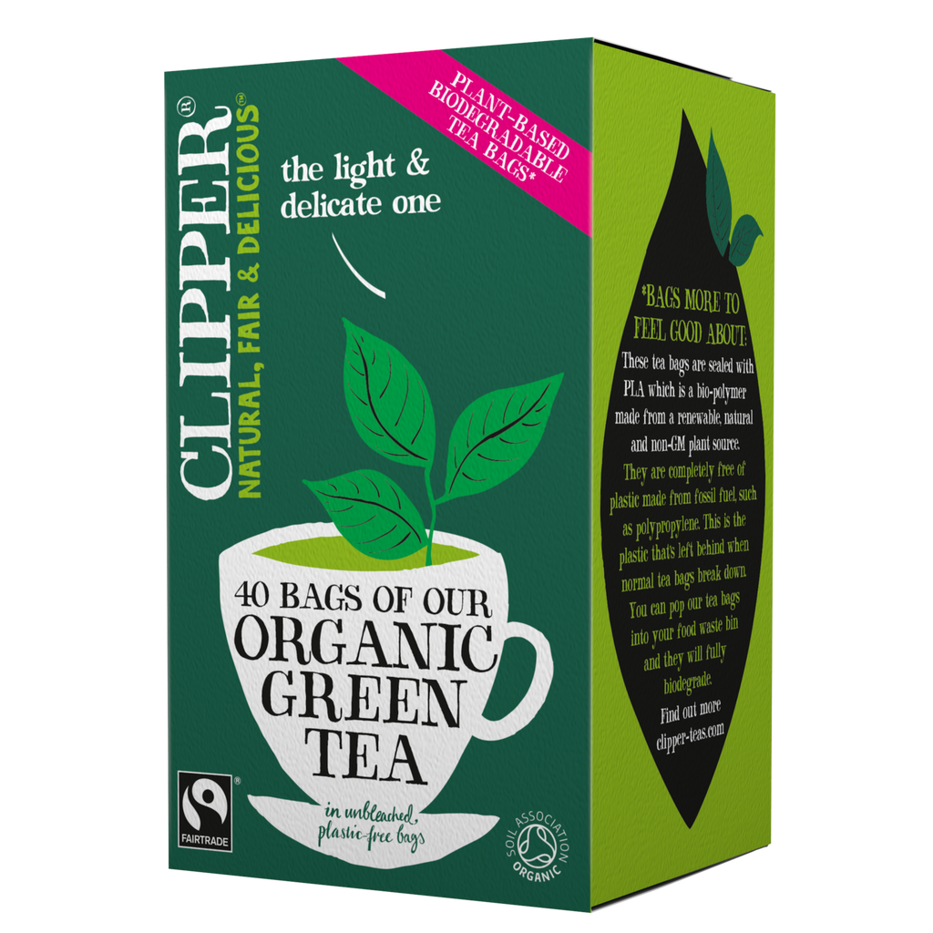 Organic & Fairtrade Green Tea 40 Tea Bags