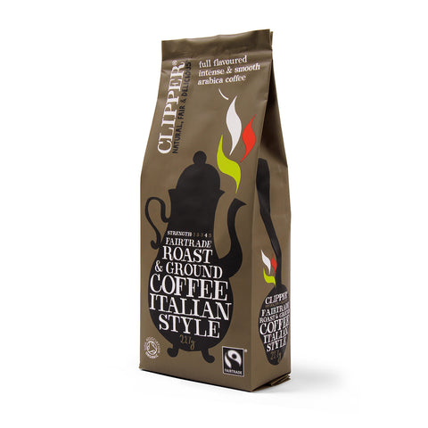 Fairtrade Organic Italian Style Roast & Ground Coffee 227g