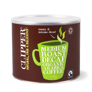 Fairtrade Organic Medium Roast Arabica Decaf Coffee 500g