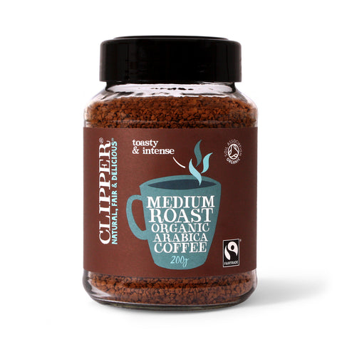 Fairtrade Organic Medium Roast Arabica Coffee 200g