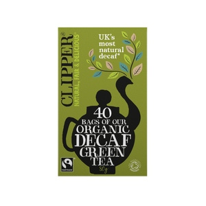 Organic & Fairtrade Decaf Green Tea 40 Bags
