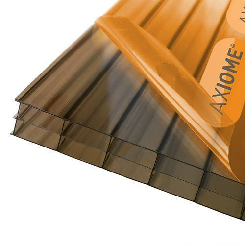 Axiome 16mm Bronze Triplewall Polycarbonate Roof Sheets - Roofing Supplies UK
