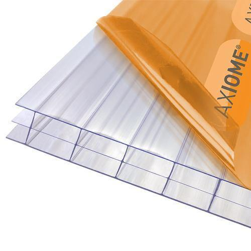 Axiome 16mm Clear Triplewall Polycarbonate Roof Sheets - Roofing Supplies UK