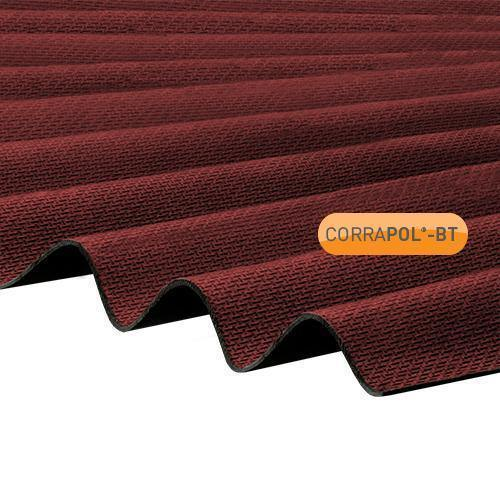 Corrapol-BT Red Corrugated Bitumen Roof Sheet 930 X 2000mm - Roofing Supplies UK