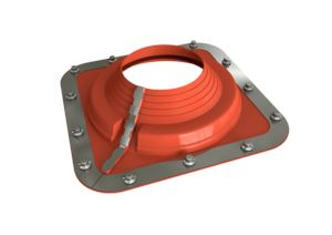 Dektite Combo Roof Pipe Flashing 350 - 760mm Red Silicone DC210REC - Roofing Supplies UK