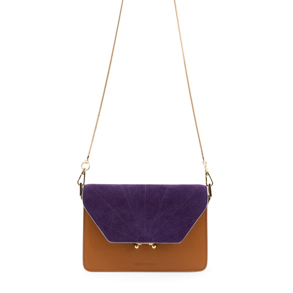 Crossbody taske - lille cider brown purple