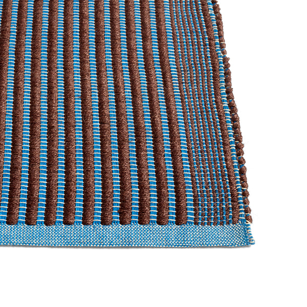 Tapis løber - chestnut and blue