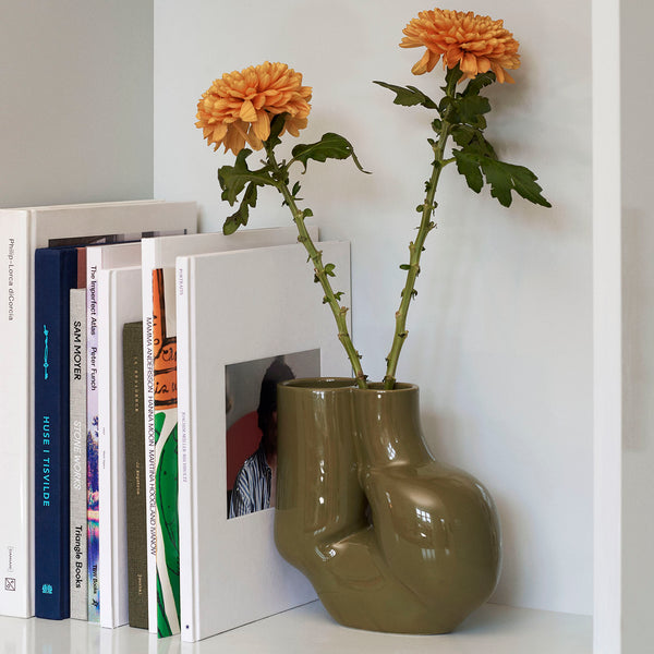 W&S vase - Chubby Olive Green