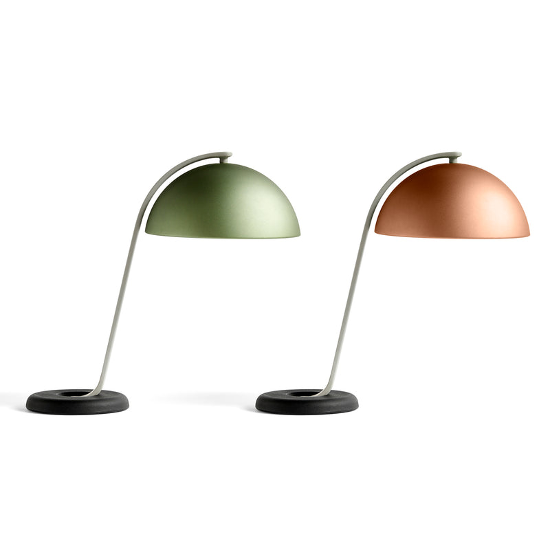 Cloche bordlampe - mocca