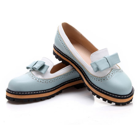 Slip On Bowknot Casual Low Heel Flats