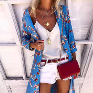 Bohemian Printed Casual Long Sleeve Cardigans
