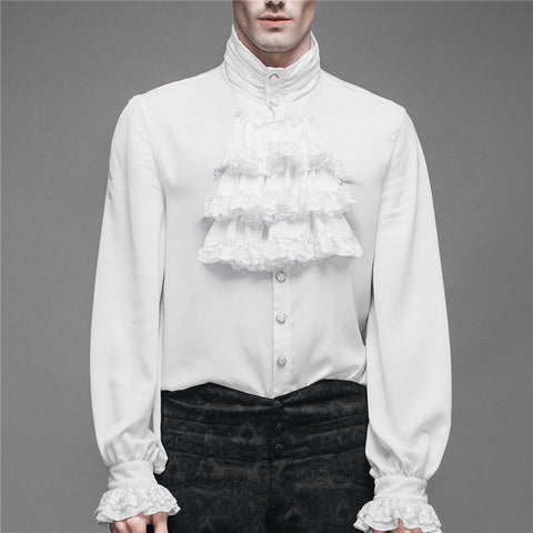 Men's Fashion Short High Collar Slim Shirt