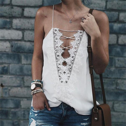 Satin Chiffon Embroidered Lace Stitching Front And Back Wear Vest