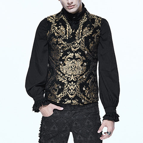 Men's Slim Punk Printed Vest