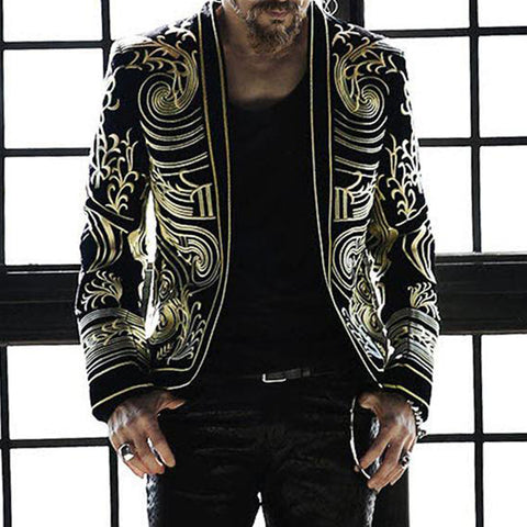 Fashion Printed Long Sleeve Blazer