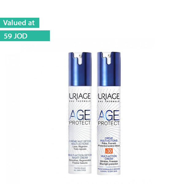Age Protect Multi-Action Detox Night Cream 40ML + Age Protect Multi-Action Cream SPF 30