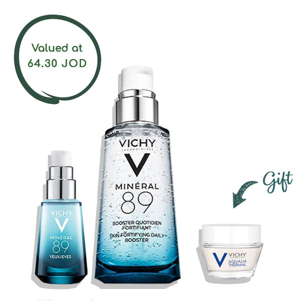 Mineral 89 Booster 50ML + Mineral 89 Eyes 15ML + Aqualia Thermal 15ML (gift)