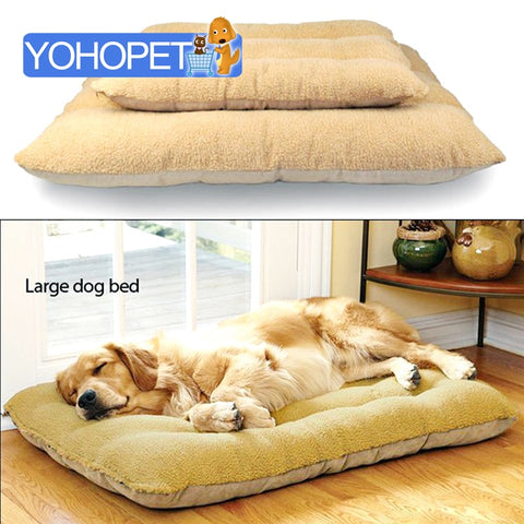 Luxury large dog bed Removable Washable Berber Fleece 100% Cotton Dog Beds/Mats Cat Bed Dog Bedding Double bed for dog - Doggy Dog Supplies