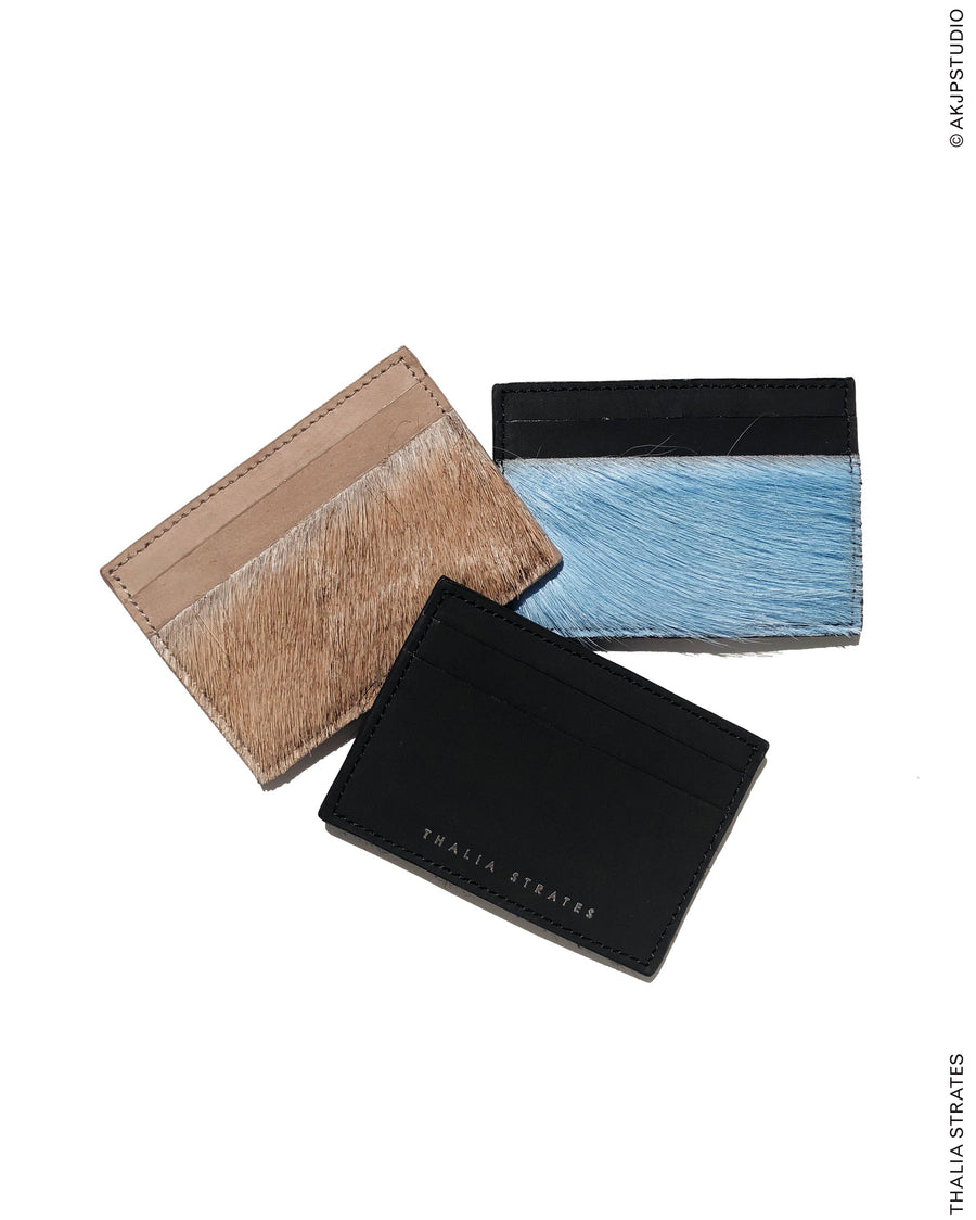 THALIA STRATES: Card Holders with Springbok Detail
