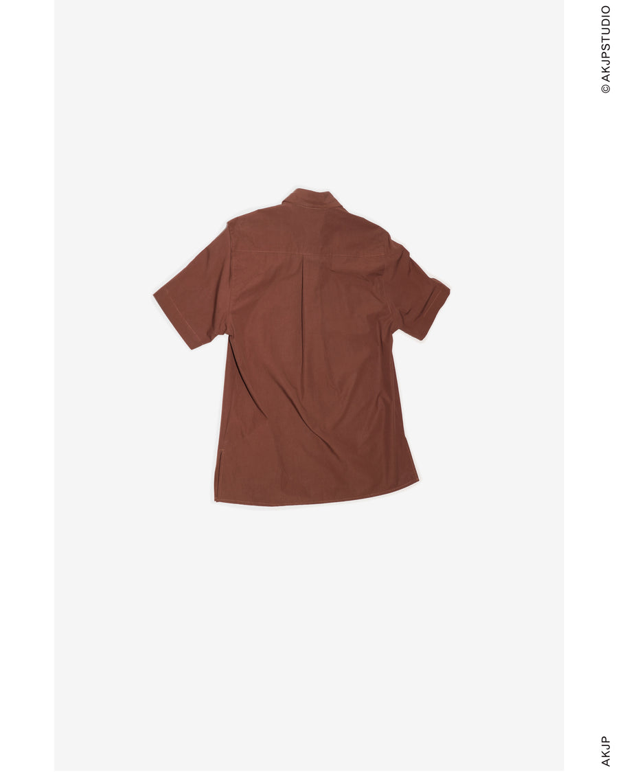 AKJP: Military Shirt – Brown Cotton