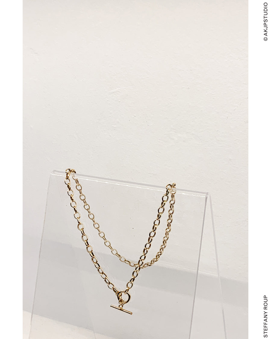 STEFFANY ROUP: Chunky T-bar Necklace