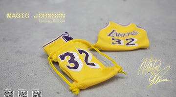 1:6 Magic Johnson Action Figure handmade Jersey Bag