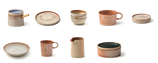 tableware Colours in rusty beige