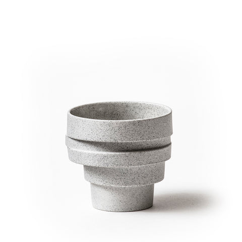 The stacked cup - grey melange unglazed