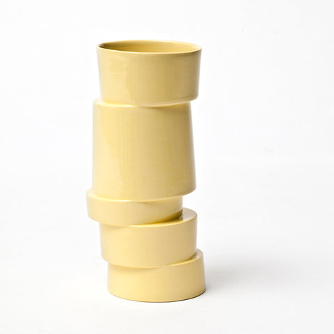 The Stacked Vase - light yellow