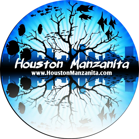 Houston Manzanita Aquarium Sticker #2