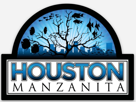 Houston Manzanita Aquarium Sticker #1