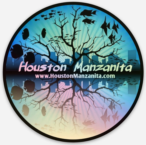 Houston Manzanita Aquarium Sticker #3 Hologram