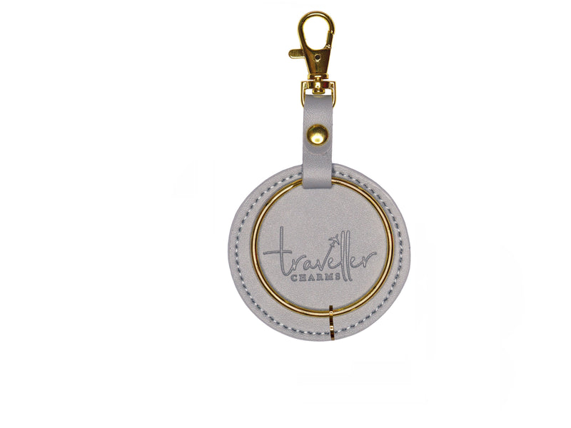 GOLD Gift Set - Key Chain & 1 Engraved Travel Charms - Traveller Charms