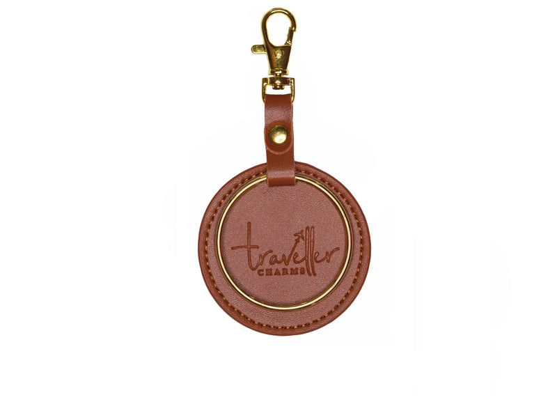 GOLD Key Chain - Brown - Traveller Charms