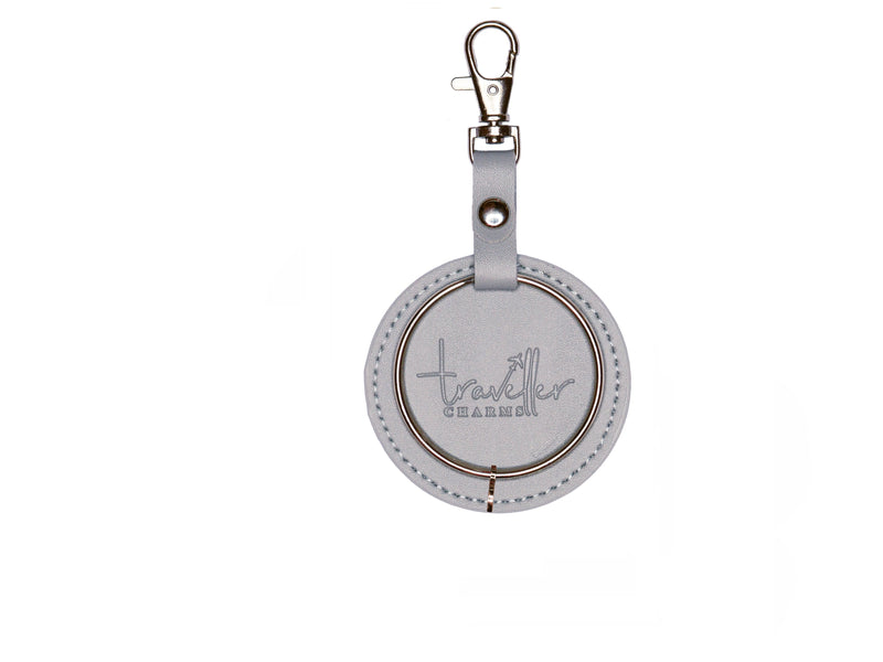 SILVER Gift Set - Key Chain & 1 Engraved Travel Charms - Traveller Charms