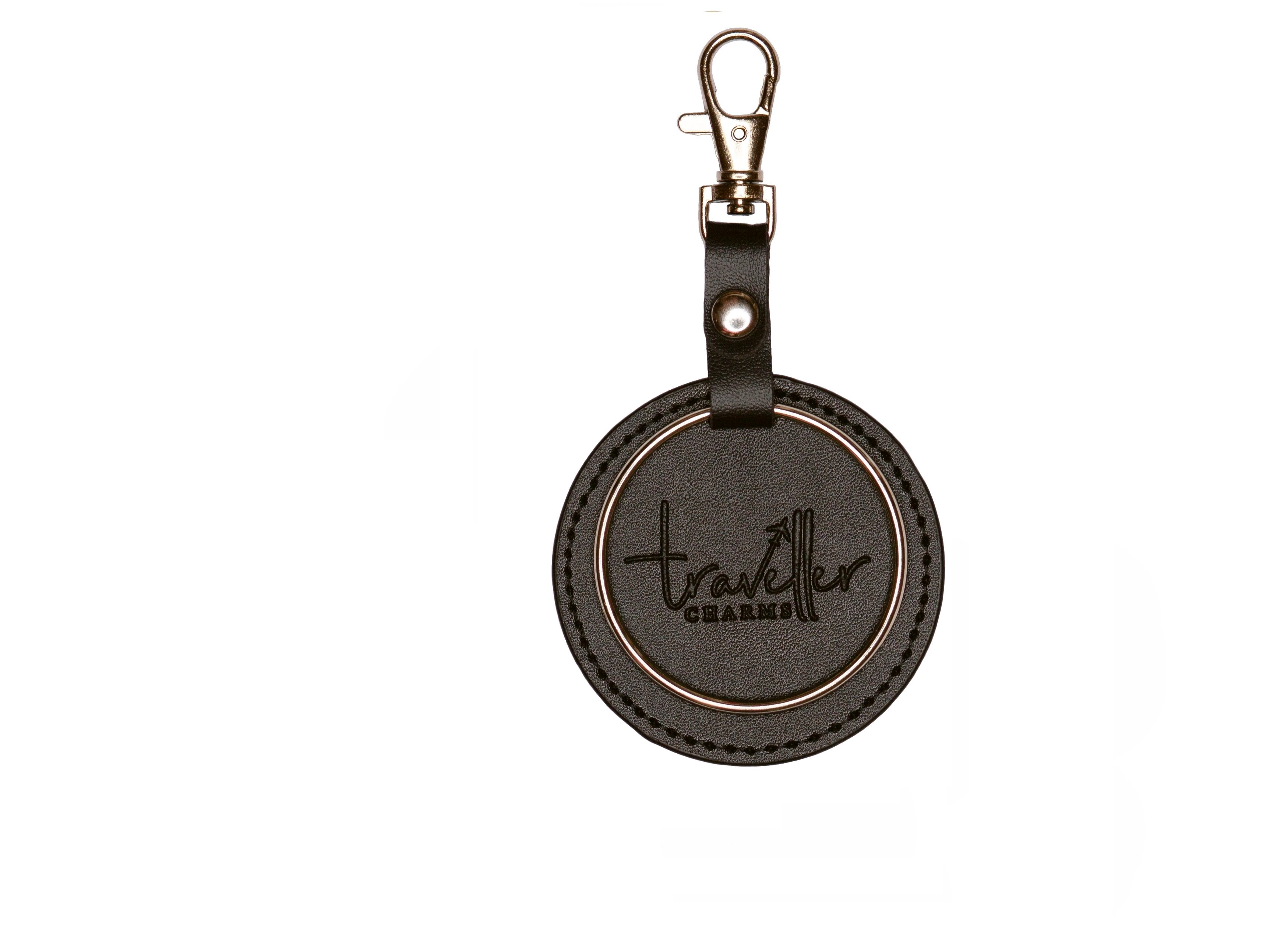 SILVER Key Chain - Black - Traveller Charms