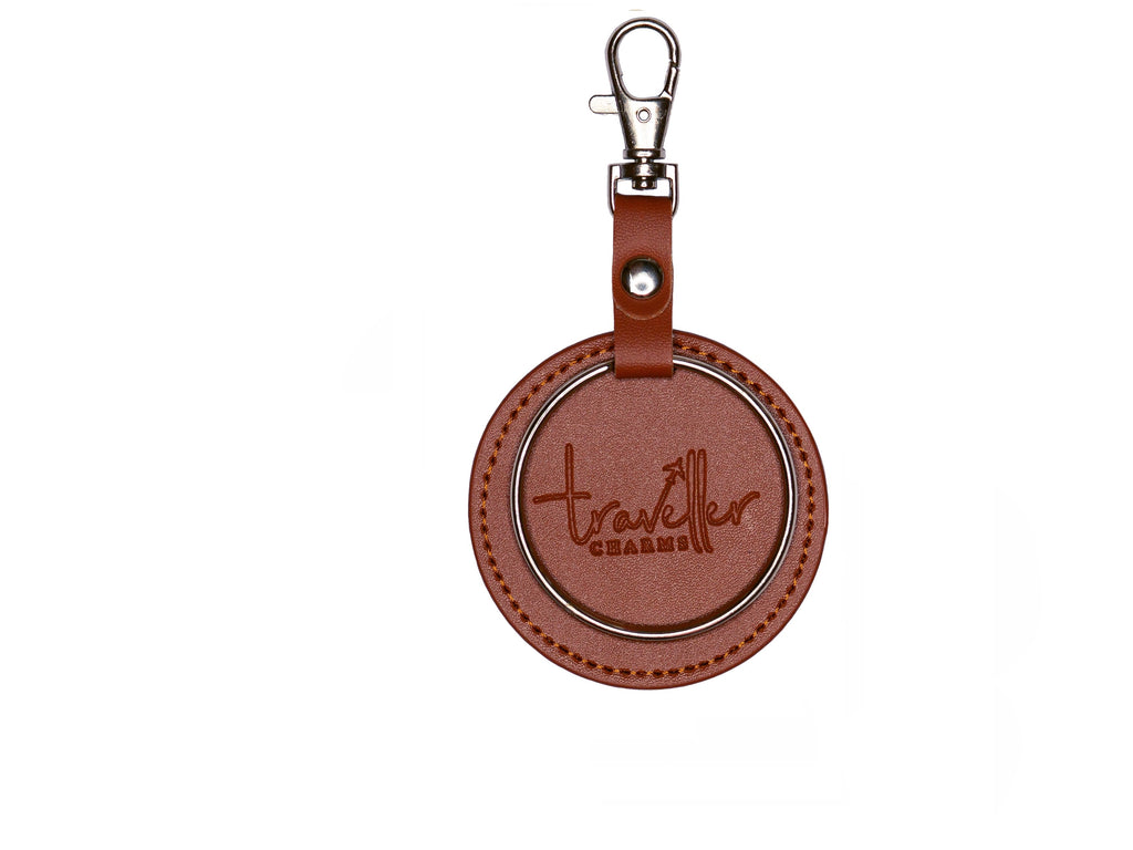 SILVER Key Chain - Brown - Traveller Charms